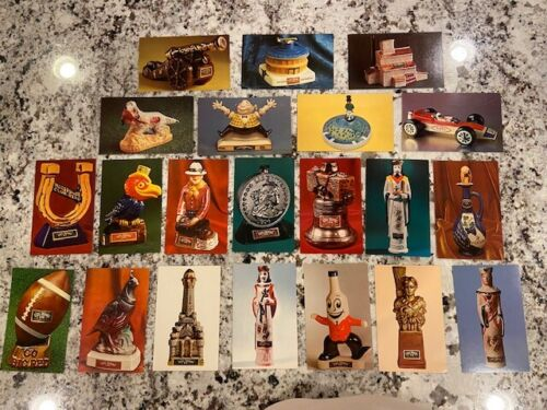 (21) 40 yr old Lot Ezra Brooks Bottle Postcards Collectibles & Mascots! 1960