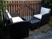 Garden Furniture Set in dark grey Rattan -