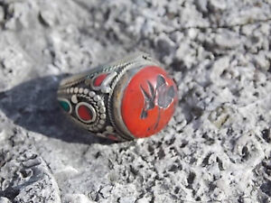 UNIQUE LARGE TRIBAL CARNELIAN ENGRAVED RING Windsor Region Ontario image 6
