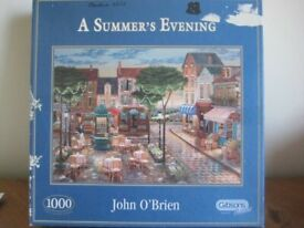 1000 PIECE JIGSAW PUZZLE - A SUMMER'S EVENING - GIBSONS