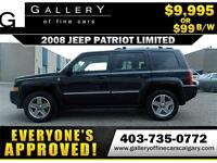 2008 Jeep Patriot Limited 4x4 $99 bi-weekly APPLY NOW DRIVE NOW