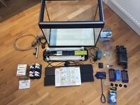 Fluval Tropical Aquarium Fish Tank, Stand & Spares (Excellent condition, could convert to marine)