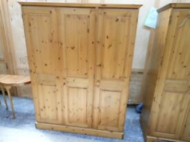 ducal pine double and triple solid pine wardrobes in excellent condition. can deliver
