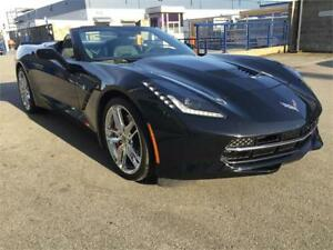 2015 Chevrolet Corvette Z51 3LT PERFORMANCE AUTO BLACK ON BLACK