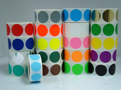 1000 Labels Round 12 Inch Yellow Color Coding Coded Inventory Sticker Dot