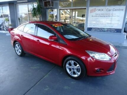 2013 Ford Focus LW MK2 Trend Red 6 Speed Automatic Sedan Hamilton Newcastle Area Preview