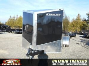 "ONTARIO TRAILERS TANDEM AXLE 7' X 18'+30"" V-NOSE TITAN"