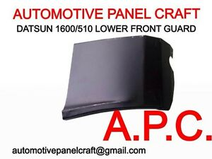 Datsun-1600-510-lower-front-guard-LEFT-rust-repair-panel