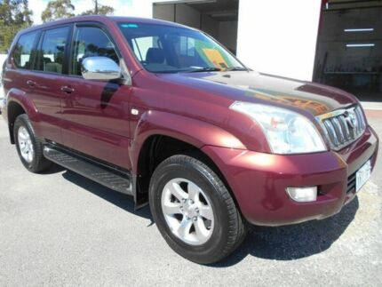 2004 Toyota Landcruiser Prado GRJ120R GXL (4x4) Maroon 5 Speed Automatic Wagon Woodville Charles Sturt Area Preview