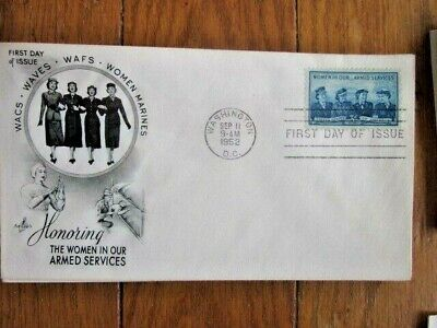 WOMEN IN THE ARMED SERVICES WACS WAVES ARMY NAVY MARINES 1952 ARTCRAFT CACHT FDC - Women In The Army