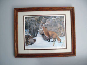 Vintage Hebert Pikl Art Print The Old Winery - Red Fox