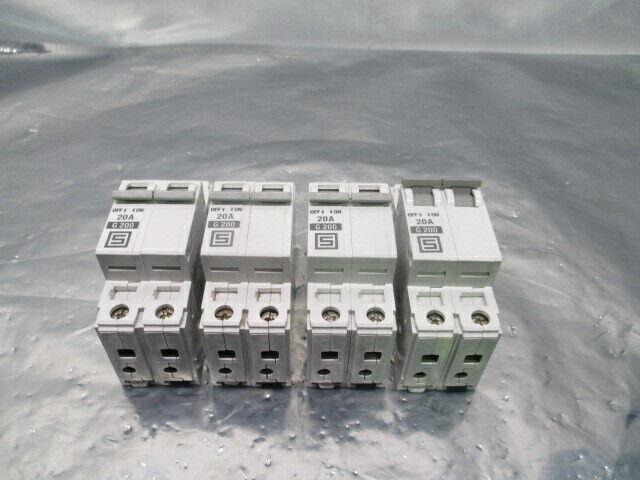 4 Schurter AS168X-CB2 Circuit Breaker, AS168X-CB2G200, 20A, G200, 100310