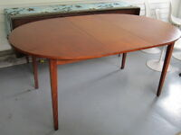 Mid century Teak oval dining table