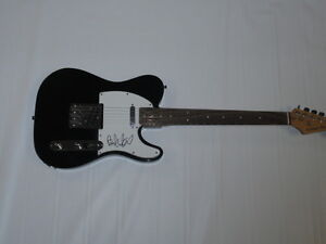 BRAD WHITFORD SIGNED BLACK ELECTRIC TELECASTER GUITAR AEROSMITH LEGEND TELE