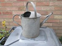 Watering can 2 gallon old galvanised type