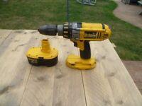 DEWALT 18v xrp Drill & Battery.