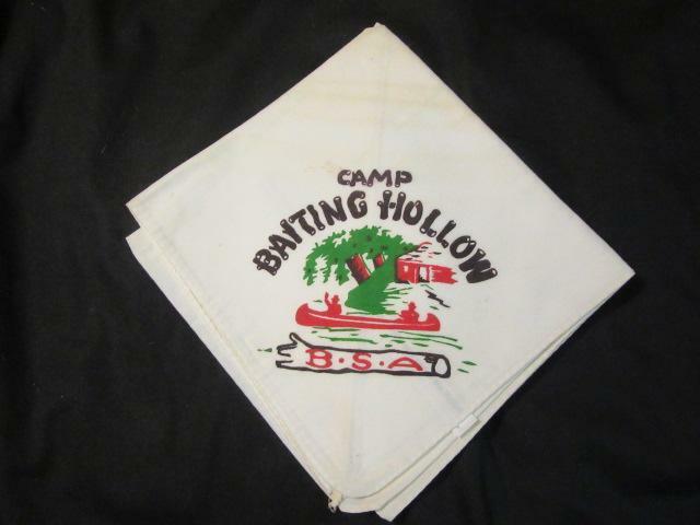 Camp Baiting Hollow White Neckerchief