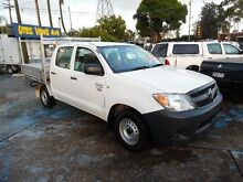 2007 Toyota Hilux TGN16R 06 Upgrade Workmate White 5 Speed Manual Dual Cab Pick-up Homebush West Strathfield Area Preview