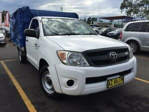 2009 Toyota Hilux GGN15R MY10 SR Cab Chassis Single Cab 2dr Man 5sp, White Manual Cab Chassis Mount Druitt Blacktown Area Preview