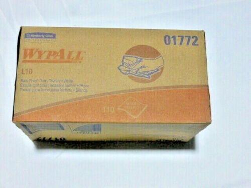 Lot of 11 Wypall L10 Sani-Prep Dairy Towels, 110/pk, 11 pks, total 1210 wipes