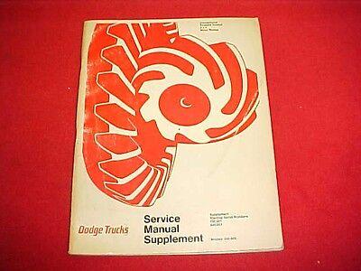 1971 DODGE TRUCK 100 200 300 400 500 600 700 800 SERVICE SHOP REPAIR MANUAL 71 100 200 400 800 Manual