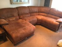 Less 1/2 Price imaculate Tan Faux Leather Reid Suite Hardly used one year old (one carefull owner )