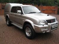 2004 04 Mitsubishi L200 2.5 DI-D Double Cab Warrior 113Bhp Silver NO VAT