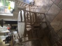 Oak Dining Table and 6 Chairs Shabby Chic