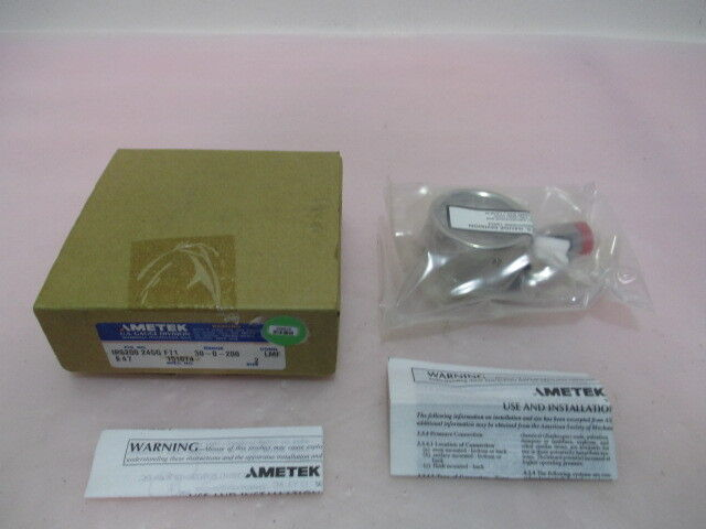 AMETEK U.S. Gauge Division IPS-200-24SG FT1, 30-0-200, LM, 2. 409579