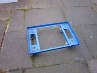 Trolley or cart . Made of metal . Heavy duty .Size : H=11cm , W=62cm , D=42cm