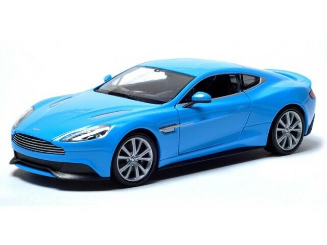 ASTON MARTIN VANQUISH 1:24 Diecast Car Model Die Cast Cars Models Metal Blue
