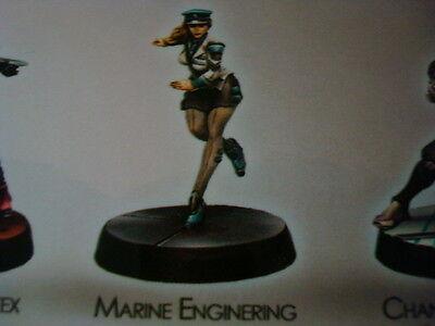 Corvus Belli Infinity Marine Enginering Officer metal new Infinity Marine
