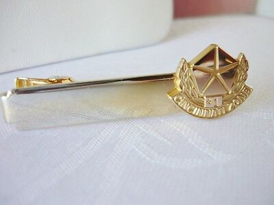 Vintage Goldtone Chrysler Emblem Cincinnati Zone #1 Tie Clasp on Rummage