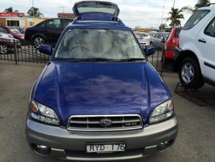 2002 Subaru Outback B3A MY03 H6 AWD Luxury Neptune Blue 4 Speed Automatic Wagon Heatherton Kingston Area Preview
