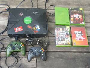 Xbox Console with 4 games