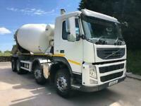 2013 13 Volvo FM 460 8X4 Hymix concrete mixer, air con, 240kms