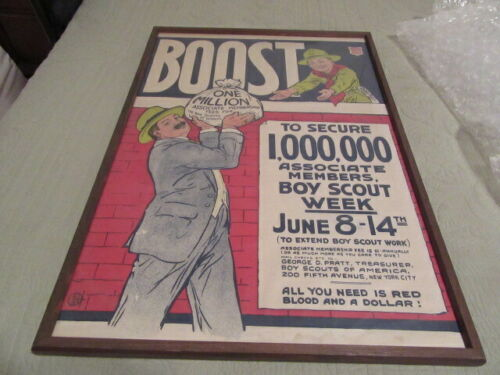 Cigars United 1 Million Associate Boy Scout Members Poster Framed       TH4