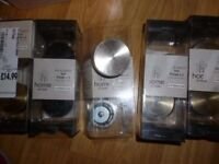 5 sets of Home of Style Dot Finials (2 per pack) JOBLOT metal silver brass black for curtains pole