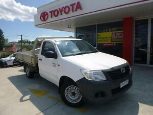 2012 Toyota Hilux TGN16R MY12 Workmate Glacier White 4 Speed Automatic Cab Chassis Allawah Kogarah Area Preview