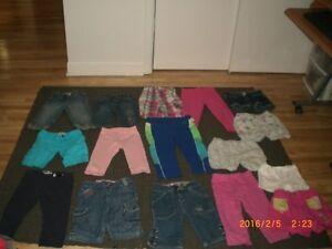 Lot de 16 shorts divers pour fille  de 4 et 5 et 6 ans