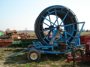 Hose Reel and 800' of Hose on Trailer