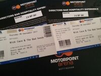 2 x Nick Cave & The Bad Seeds tickets, Nottingham Arena, Hospitality Experience VIP bar free drinks