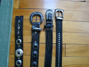MEN'S WESTERN LEATHER BELTS BLACK&BROWN SIZE 36-38