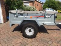 Erde Trailer 142 with Erde Load Bars and Cover