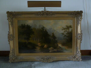 OIL PAINTING ON CANVAS  Signed - REDUCED