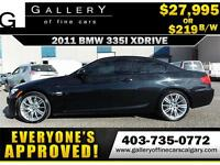 2011 BMW 335i XDrive Coupe $219 bi-weekly APPLY NOW DRIVE NOW