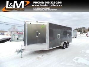 NEW 2019 NEO 7'x22' ALUMINUM ALL-SPORT TRAILER - EXTRA HEIGHT