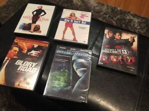 5 Assorted DVD's - Glory Road, Assault on Precinct 13, etc.