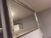 Large opulant rectangular mirror