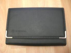 Genuine Vauxhall black leather document holder